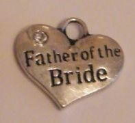 Father Of The Bride Personalised Wine Glass Charm - Full Bead Style